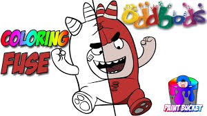 oddbods cartoon coloring book fuse coloring episode for kids to