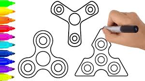 how to draw fidget spinner coloring pages drawing for children