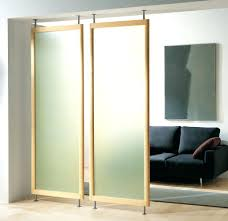 wall ideas black 6 panel room divider sliding wall dividers home