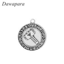 men s religious jewelry dawapara knot circles with odin s hammer necklaces accessories