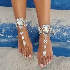 barefoot sandals for wedding goddess wedding sandals bridal foot jewelry barefoot