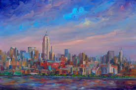 empire state building painting prints