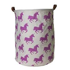purple laundry hamper unicorn canvas storage hamper filly and co horse gifts