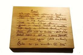 bulk buy handwritten recipe cutting board medium size 12x9