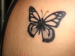 simple butterfly on shoulder tattooshunt com