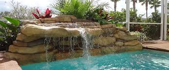 diy pool waterfall aquarock water features inc ponds water features landscaping