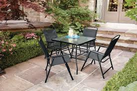 Walmart Patio Furniture In Store - mainstays cranston 5 piece sling folding dining set walmart canada
