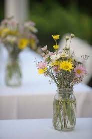 jar centerpieces for weddings wildflower centerpiece wedding jar elizabeth designs