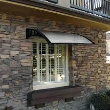 Homemade Window Awnings 9 Foot Overhead Clear Awning Door Window Canopy Modern