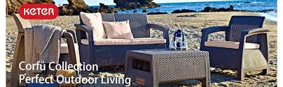 patio table plug 2 1 4 amazon com keter corfu 4 piece set all weather outdoor patio garden