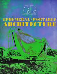 ad architectural design ephemeral portable architecture abebooks