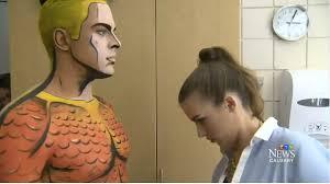 makeup artist turns into comic book superheroes