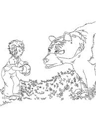 sal meets bear coloring free printable coloring pages