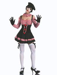 cute and silent this mime woman intrigues in a circus