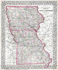Map Missouri File 1874 Mitchell Map Of Iowa And Missouri Geographicus Ioms
