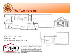 what is included in architectural plans two harbors schmidt homes