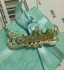 Double Plated Name Necklace Double Name Plate Necklace Ebay