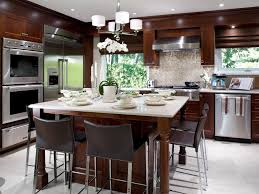 designing a kitchen island with seating 7 stylish kitchen islands hgtv