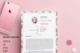 vintange floral ver 2 resume template cv template coverletter