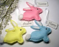 personalized easter bunnies baby bunny decoration felt nursery rabbit gift bunny decor