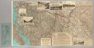 Jasper National Park Canada Map by The Triangle Tour Of British Columbia Cornell University Library
