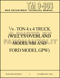 jeep instructions 1941 1945 military jeep mb gpw operating instructions maintenance