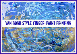 van gogh style finger paint printing the imagination tree