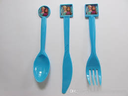 plastic knife frozen theme elsa plastic knife fork spoon cutlery tableware