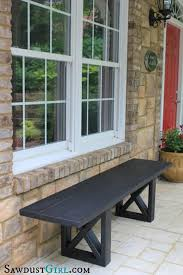 Simple Wood Bench Seat Plans by Best 25 Cheap Benches Ideas On Pinterest Cheap Picnic Tables