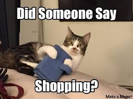 Shopping Meme - did someone say shopping i can has cheezburger