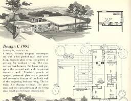 eichler mid century modern house plans