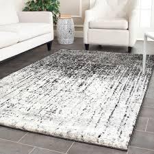 7 x 10 area rug safavieh retro mid century modern abstract black light grey
