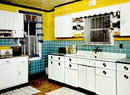 Retro Kitchen Curtains 1950s by 100 Best 1950 U0027s Kitchens Images On Pinterest Retro Kitchens
