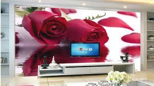 red rose wallpaper for walls for living room youtube