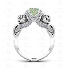 natural white opal sapphire studios u0027l u0027amour u0027 1 65ct opal diamond white gold