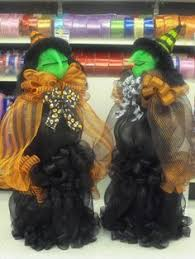 these witches are made out of deco mesh deco mesh witches