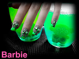 alien nails cute green aliens nail design with 3d moving eyes