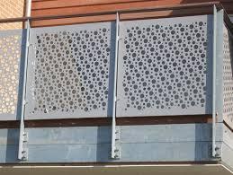balkon lochblech für balkongeländer