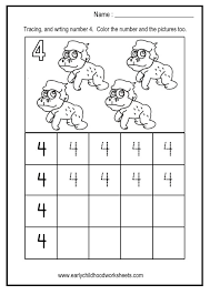 tracing and writing numbers worksheets