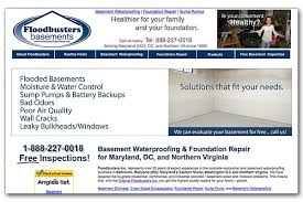 Basement Waterproofing Maryland by Floodbusters Inc Waterproofing And Repair Ocean City