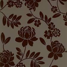 B Q Kitchen Design Service by Statement Paste The Wall Kristen Flock Brown Wallpaper