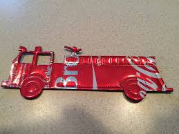 truck fighter man christmas ornament recycled