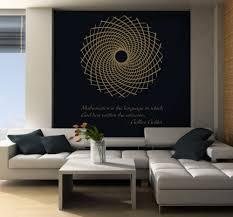 science art galileo galilei quote u0026 fibonacci flower vinyl