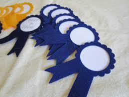 blue and gold ribbon prize ribbons place blue and gold award ribbon felt