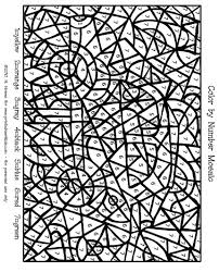 printable color by number coloring pages kindergarten color number