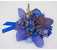 blue orchid corsage send prom in indianapolis in gillespie florists