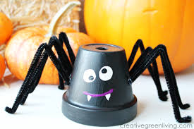 Challenge Flower Pot Make Friendly Spiders From Upcycled Flower Pots Creative Green
