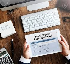 social security help desk social security application form insurance pension concept stock