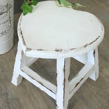 small white wooden heart stool stools wooden stools and