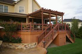 beautiful deck designs for split level homes pictures interior